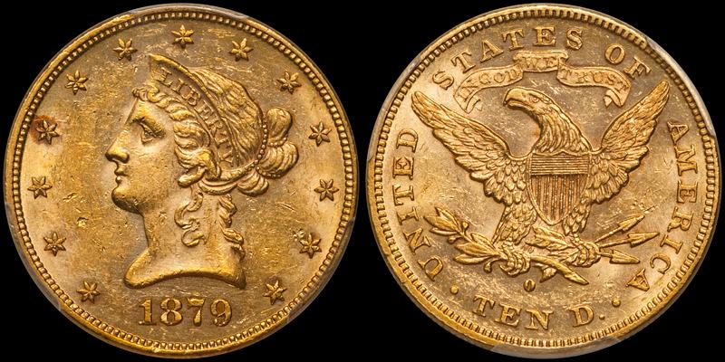 1879-O $10.00 PCGS MS61