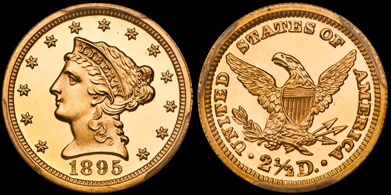 1895 $2.50 PCGS PR66DCAM CAC
