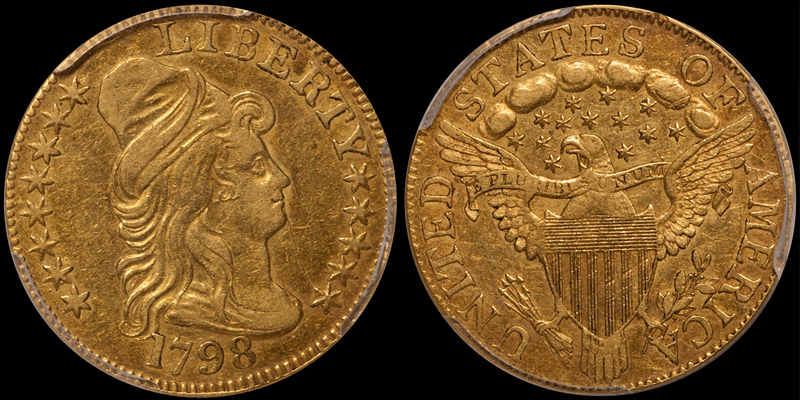 recently sold 1798 Small 8 $5.00 PCGS EF45 CAC