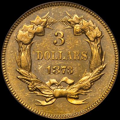 1873 $3.00 PCGS MS63