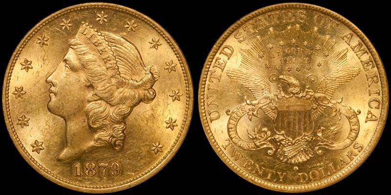 1879-O $20.00 NGC MS60
