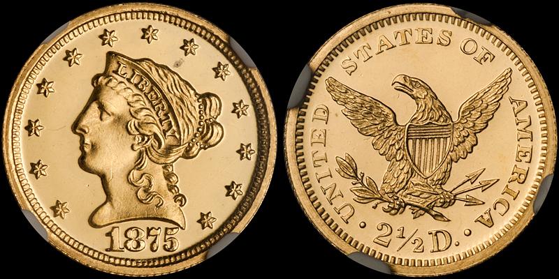1875 $2.50 NGC PR65 Ultra Cameo