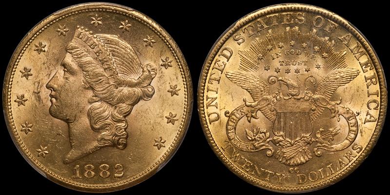 1882-CC $20.00 PCGS MS62