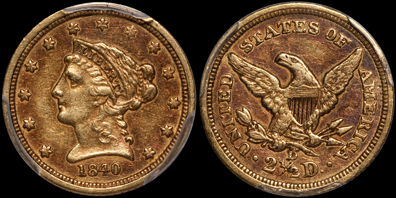 1840-D $2.50 PCGS EF45