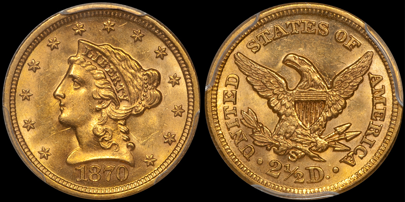 1870-S $2.50 PCGS MS63