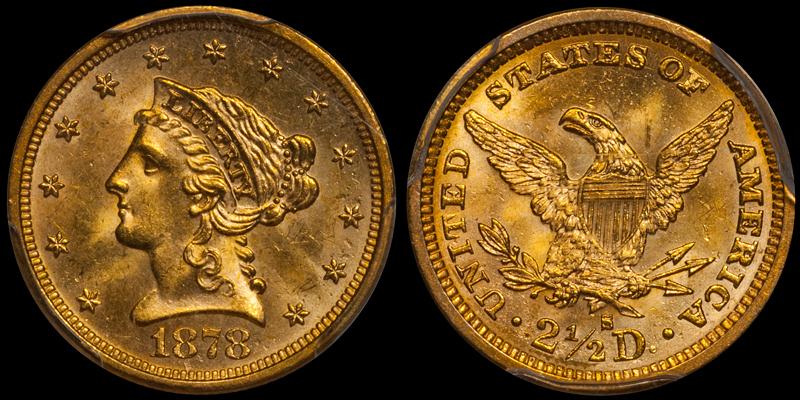 1878-S $2.50 PCGS MS64 CAC
