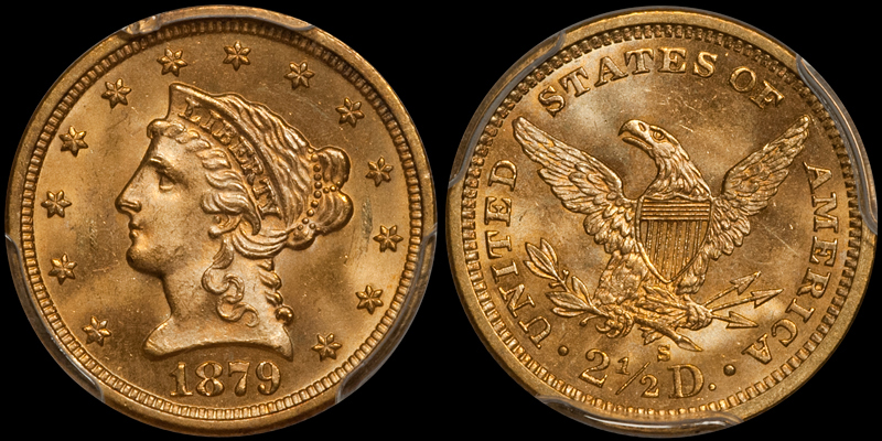 1879-S $2.50 PCGS MS64+ CAC