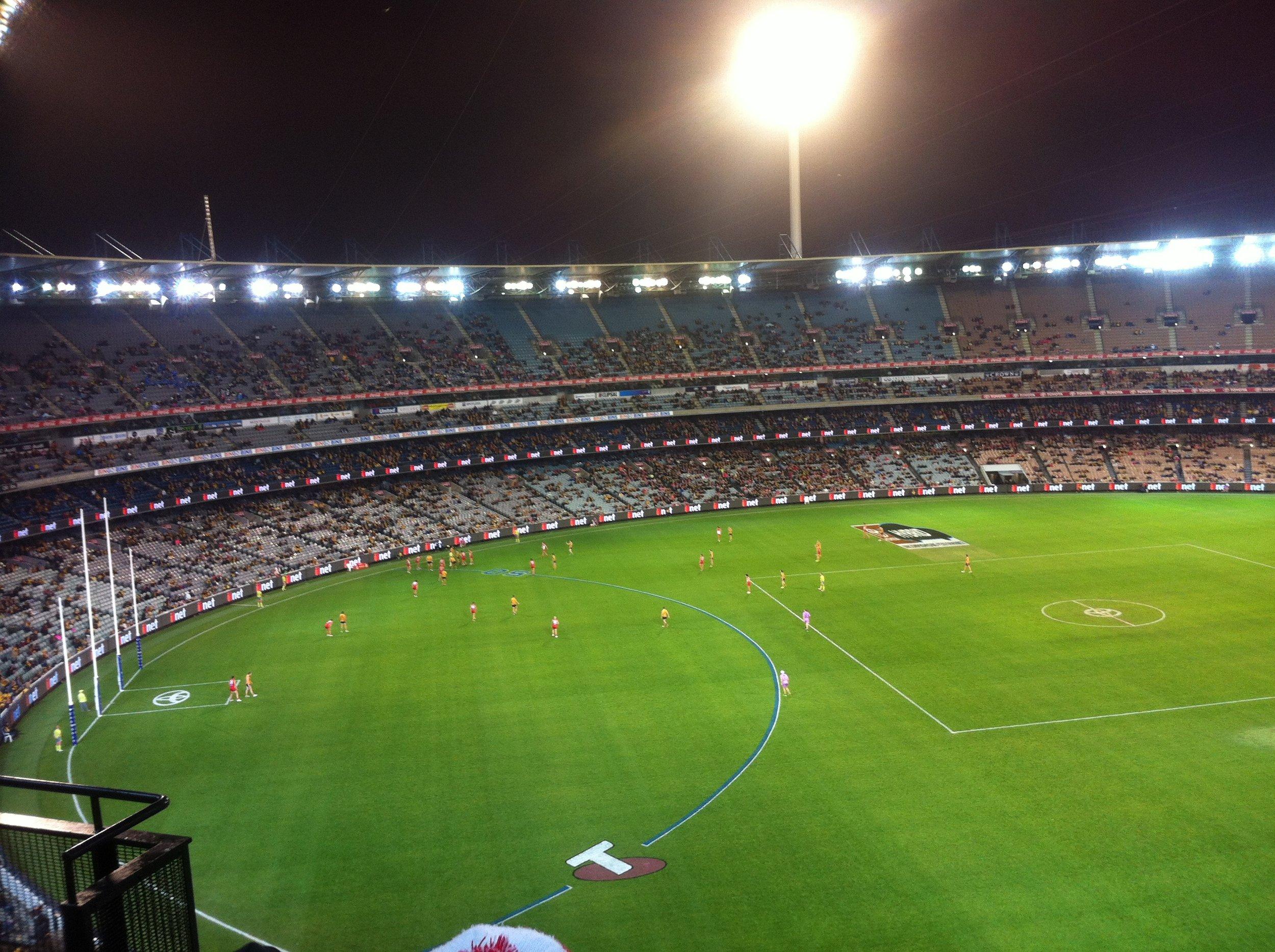 Melbourne's iconic sports stadium, the MCG (Melbourne Cricket Ground).