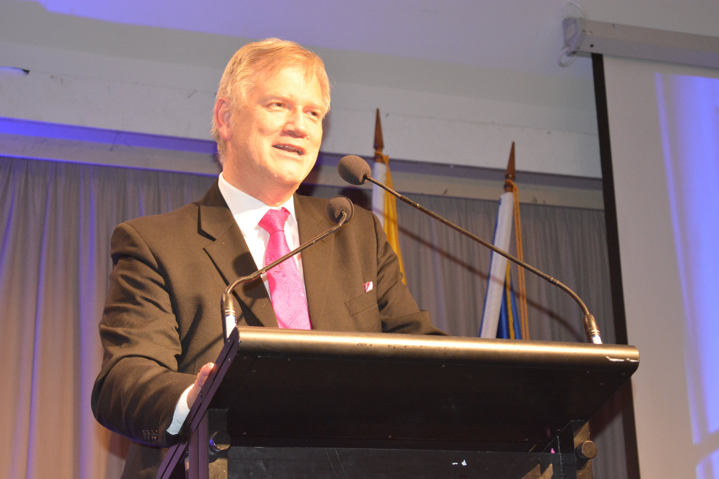 Andrew Bolt was the key note speaker at the Archbishop's Dinner. Picture: Andrew Vaccaro