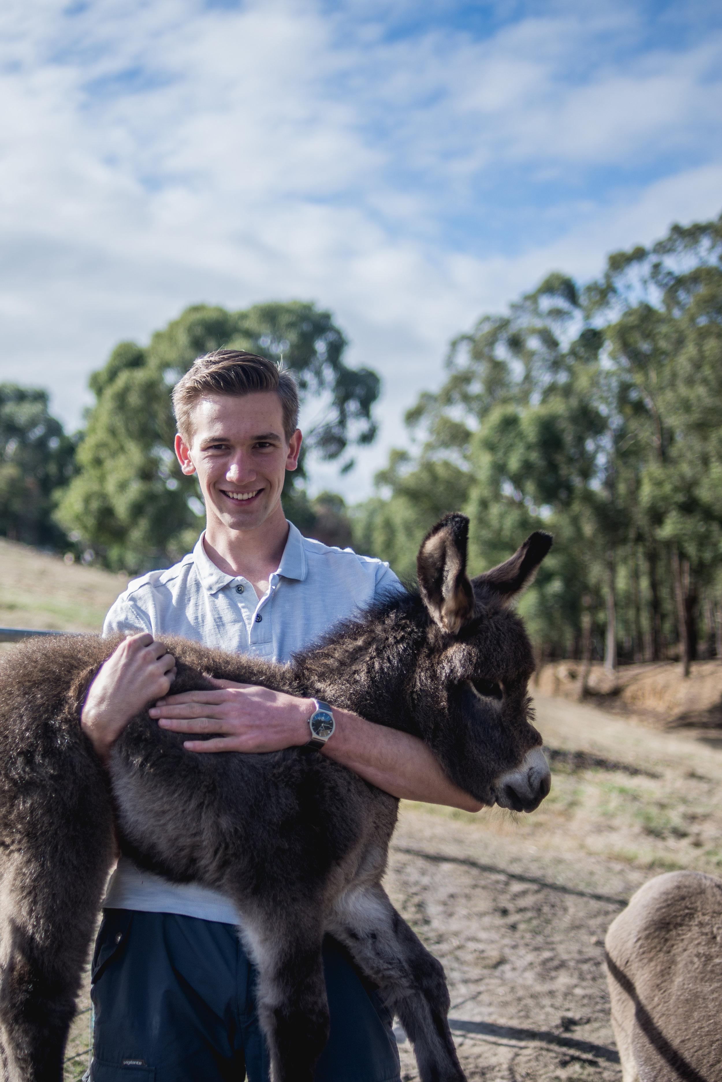 Rhys Lowther at Hangan's family farm.