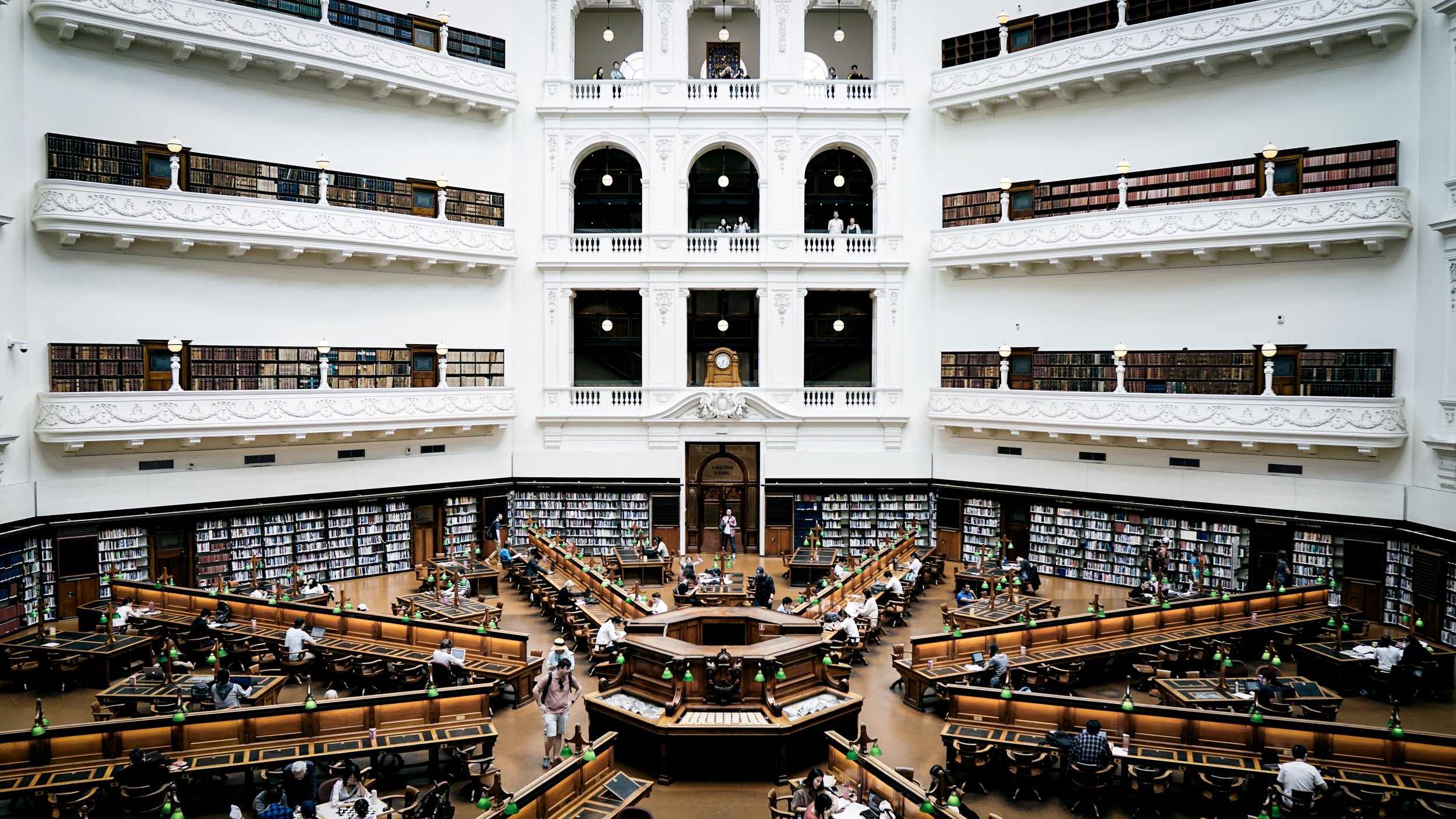 The Melbourne State Library is only a 10min walk from the seminary.