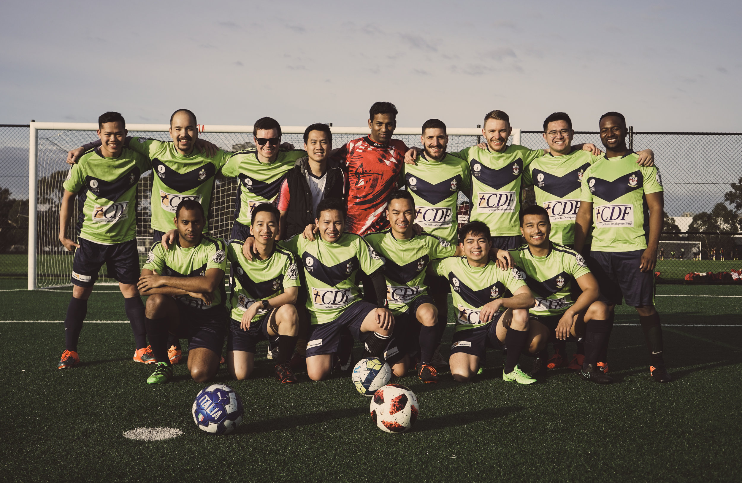 Corpus Christi Seminary Soccer Team 2019, Captain: Mr. Tien Tran