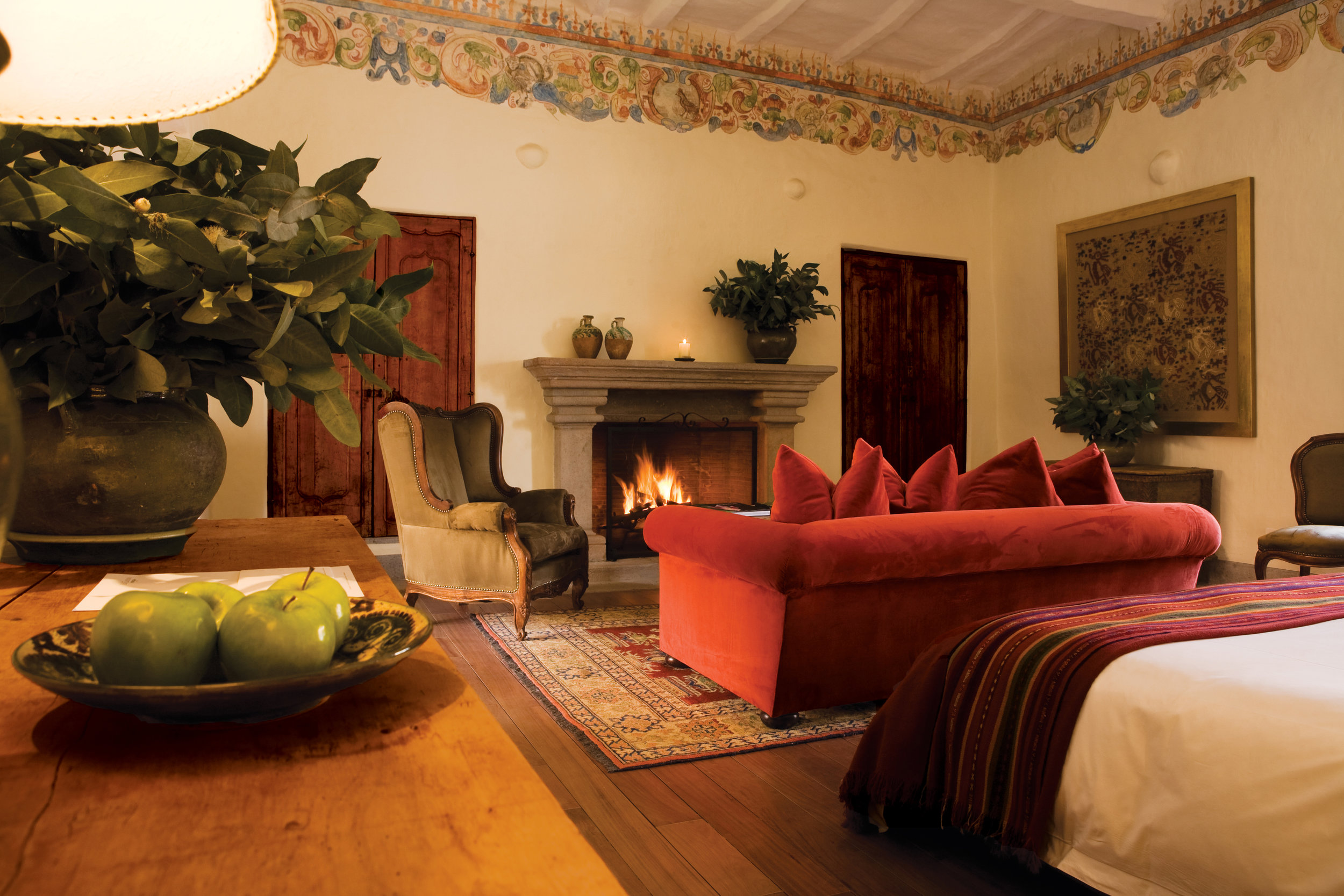 One of just two of the Plaza View Suites at Inkaterra La Casona