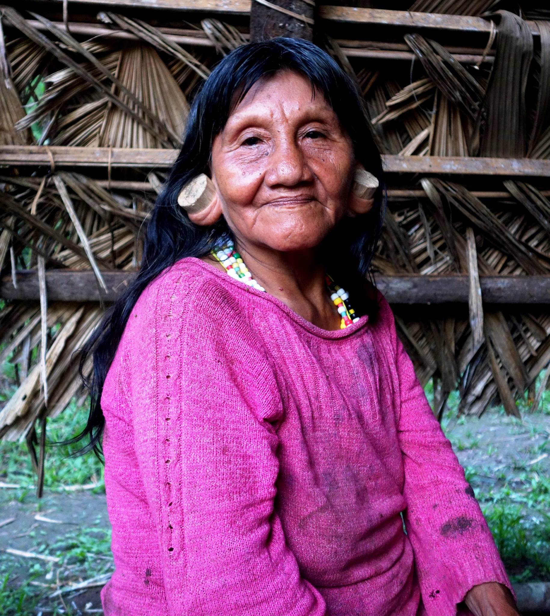 Huaoroni woman of Ecuador.