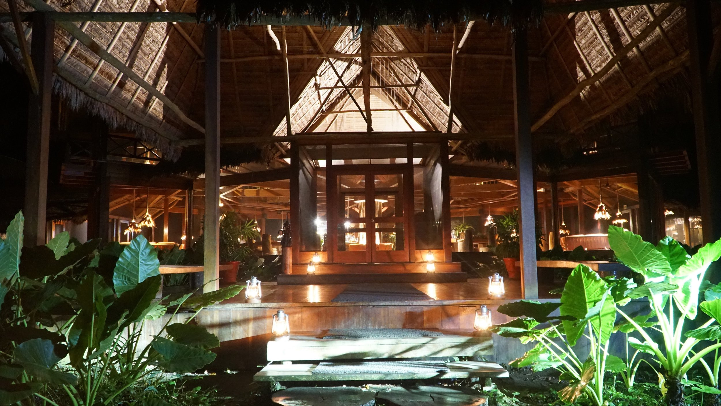 The beautiful main lodge at Inkaterra Reserva Amazonica
