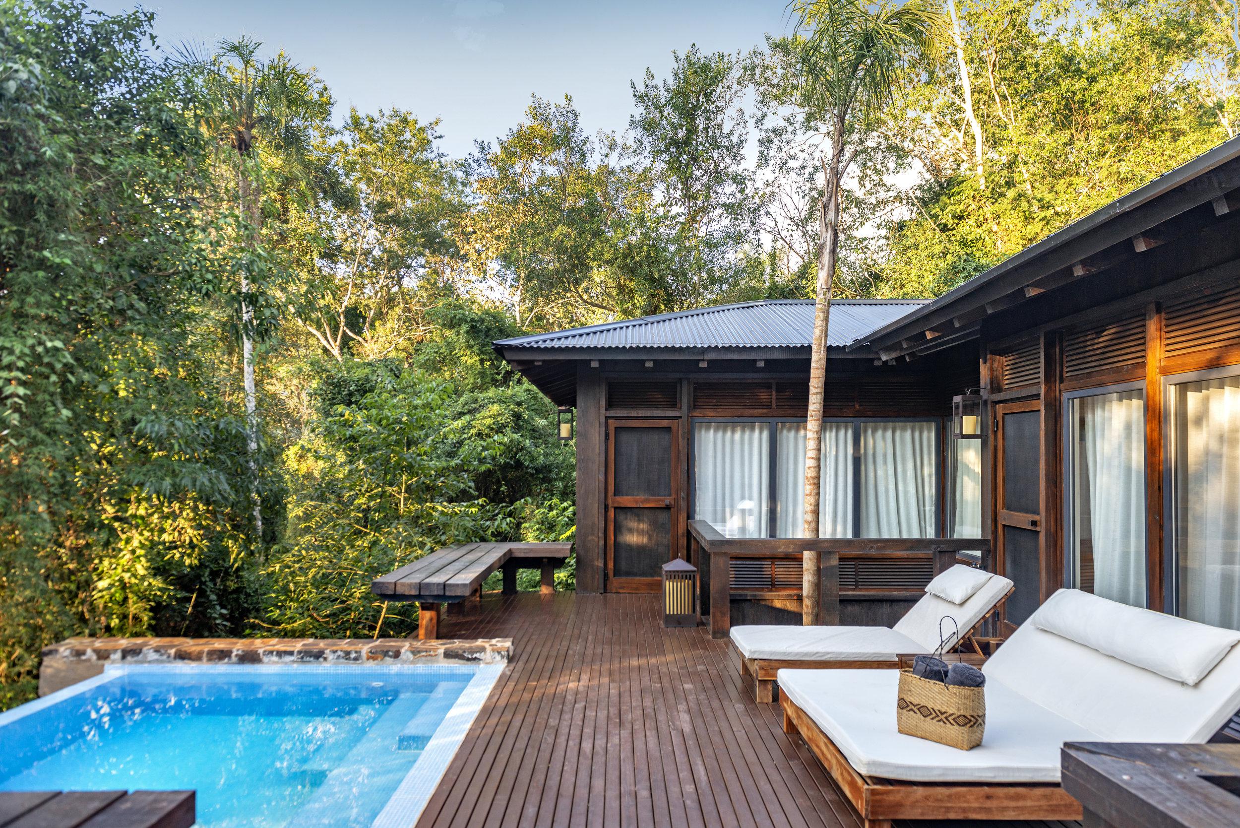 Master Villa Deck at Awasi Iguazu