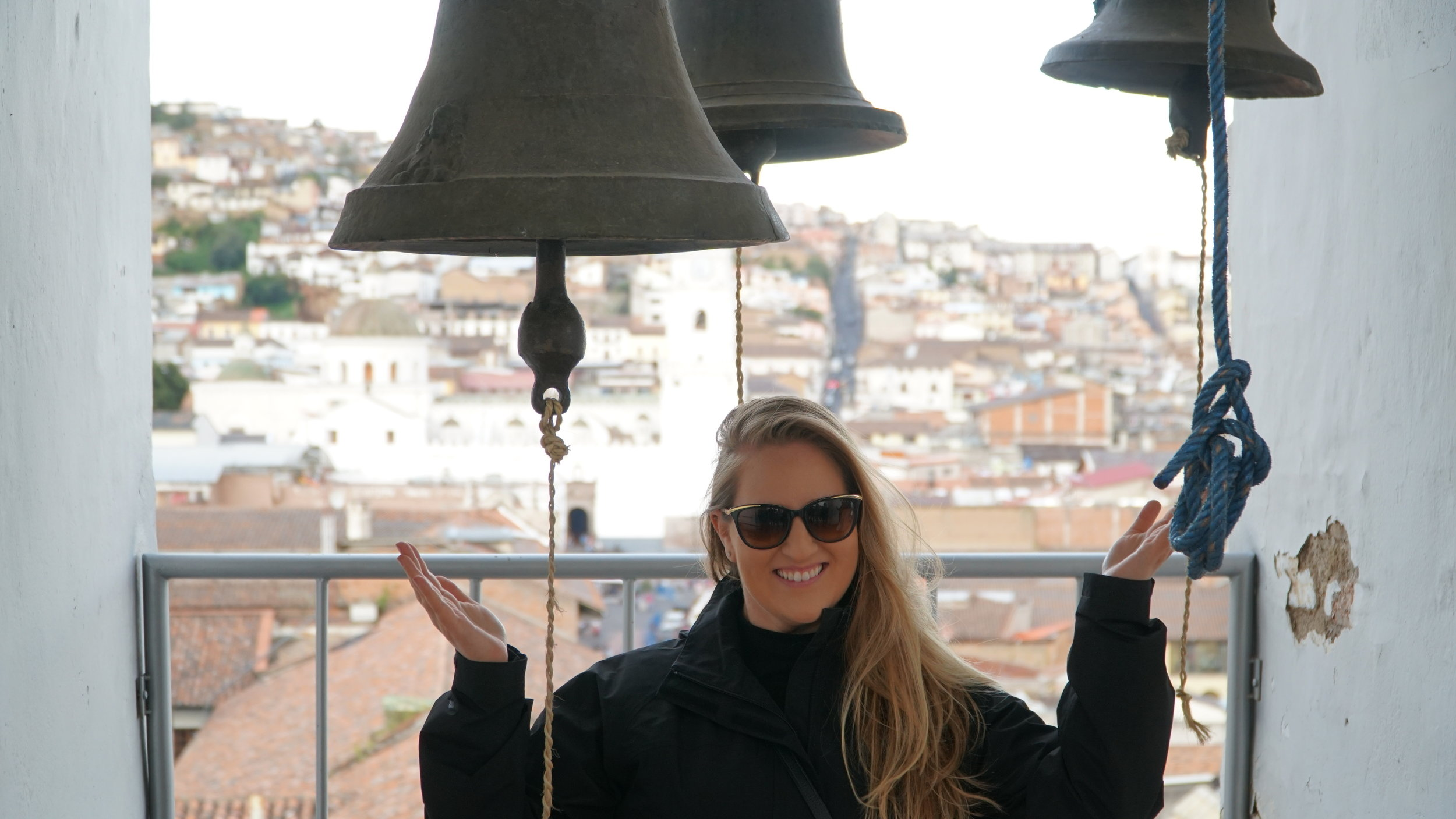 Shana in the bell tower