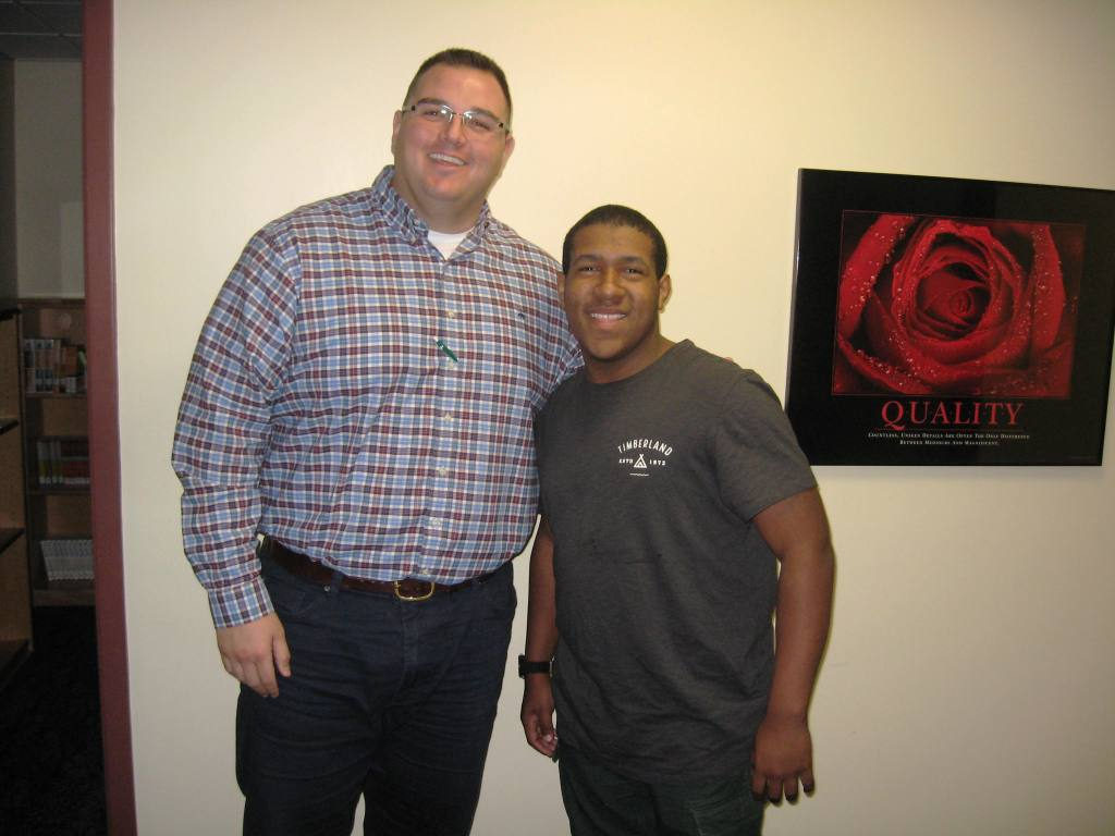 Get to know DeVaughn, one of our incredible Scholars!  - {SSHS' Matt Nelson and Scholar DeVaughn Berry)