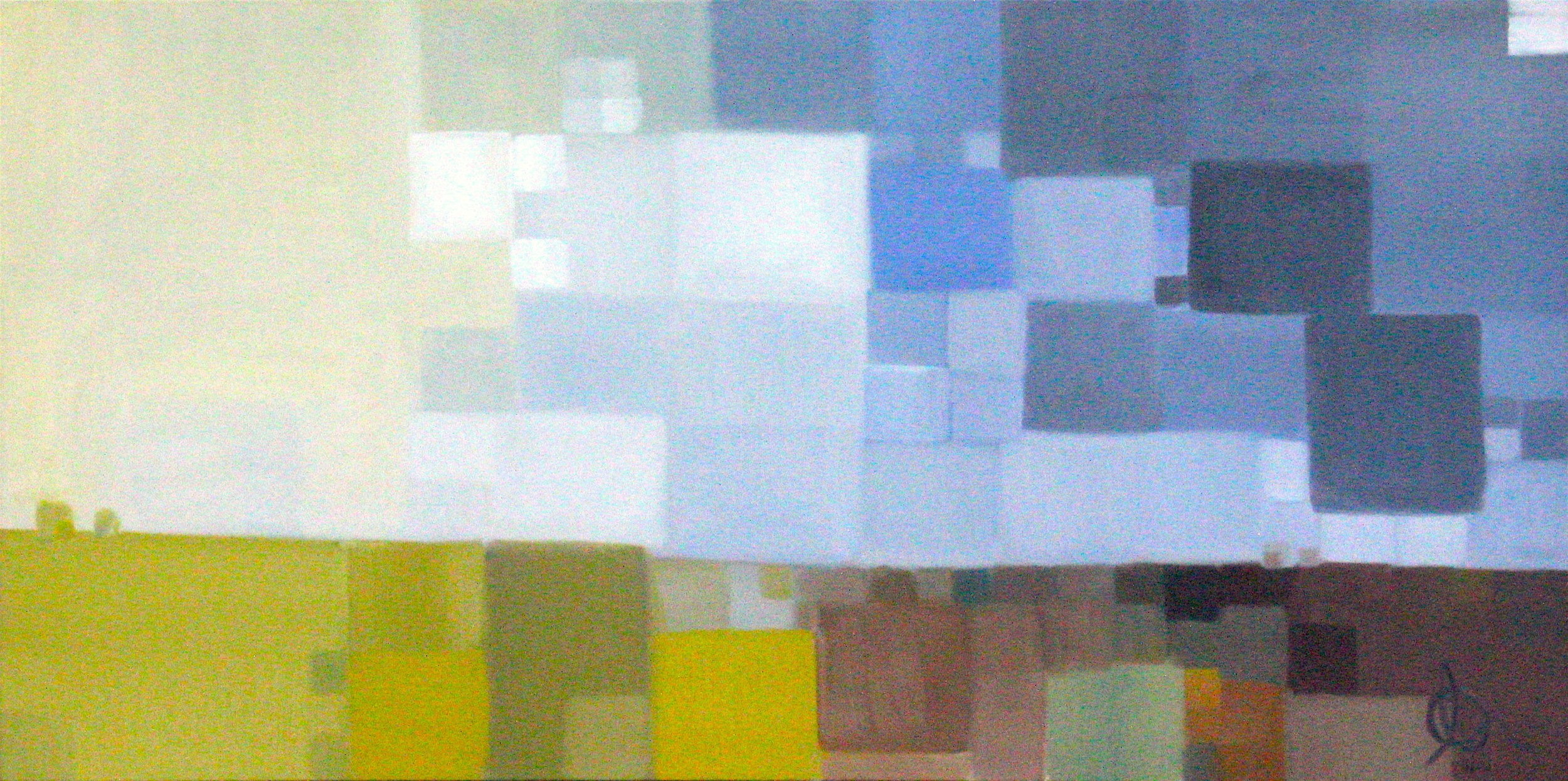"Prairie Storm: 48"" x 24"", Oil on Canvas, $900"