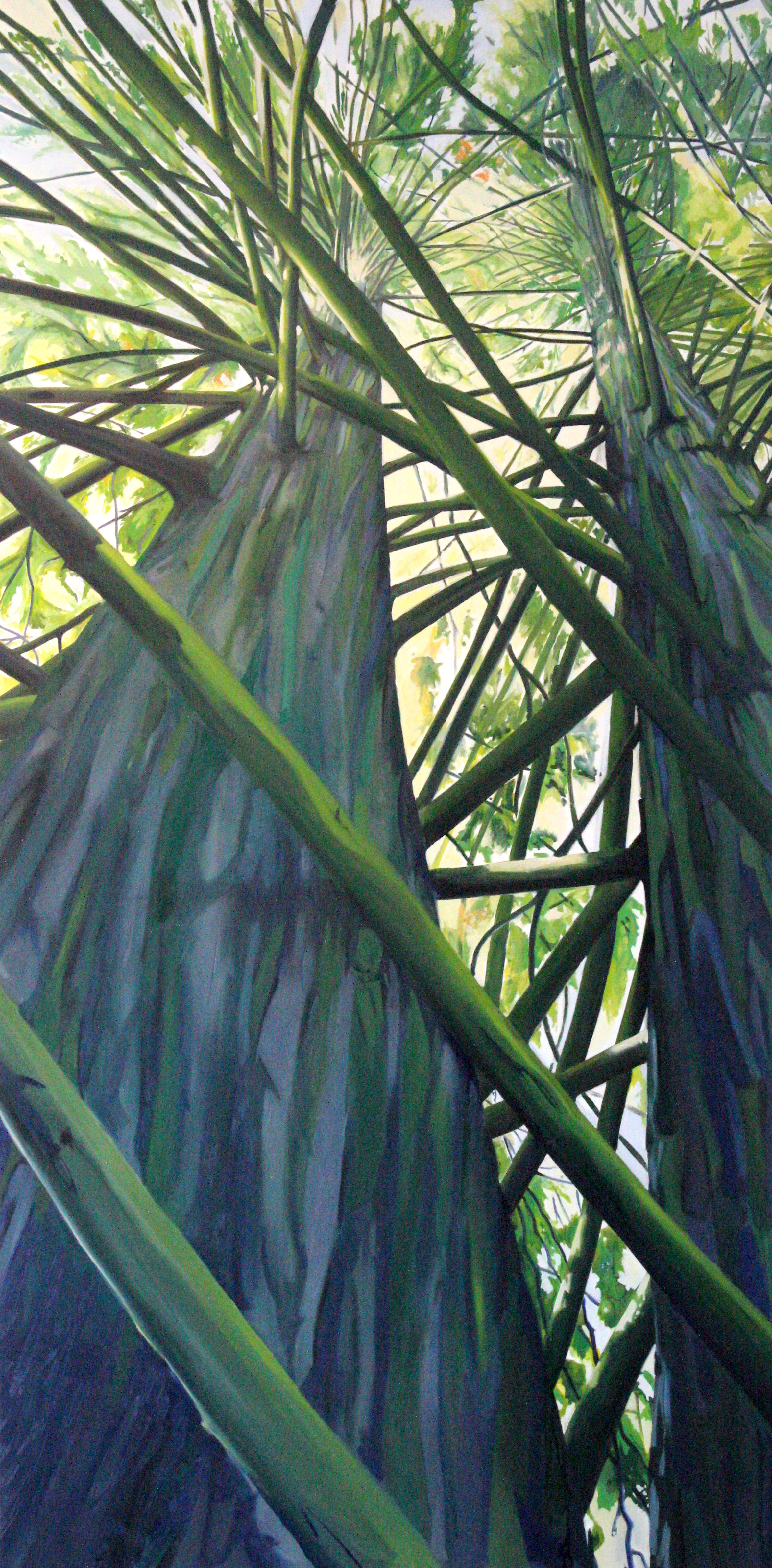 """Tower Sore 3: 48"""" x 96"""", Oil on Canvas, SOLD"""
