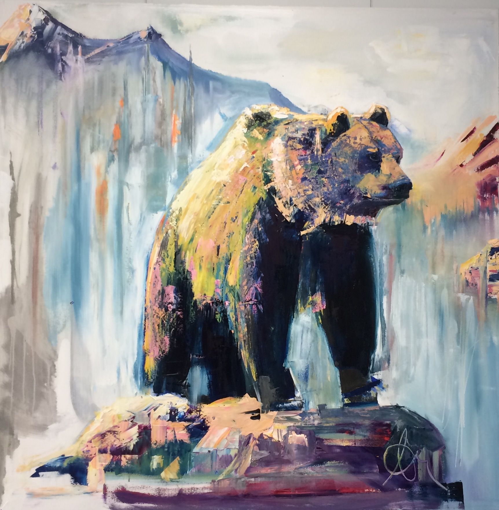 """Bear Squared - Oil on Canvas48""""x48""""SOLD/ PRIVATE COLLECTION"""