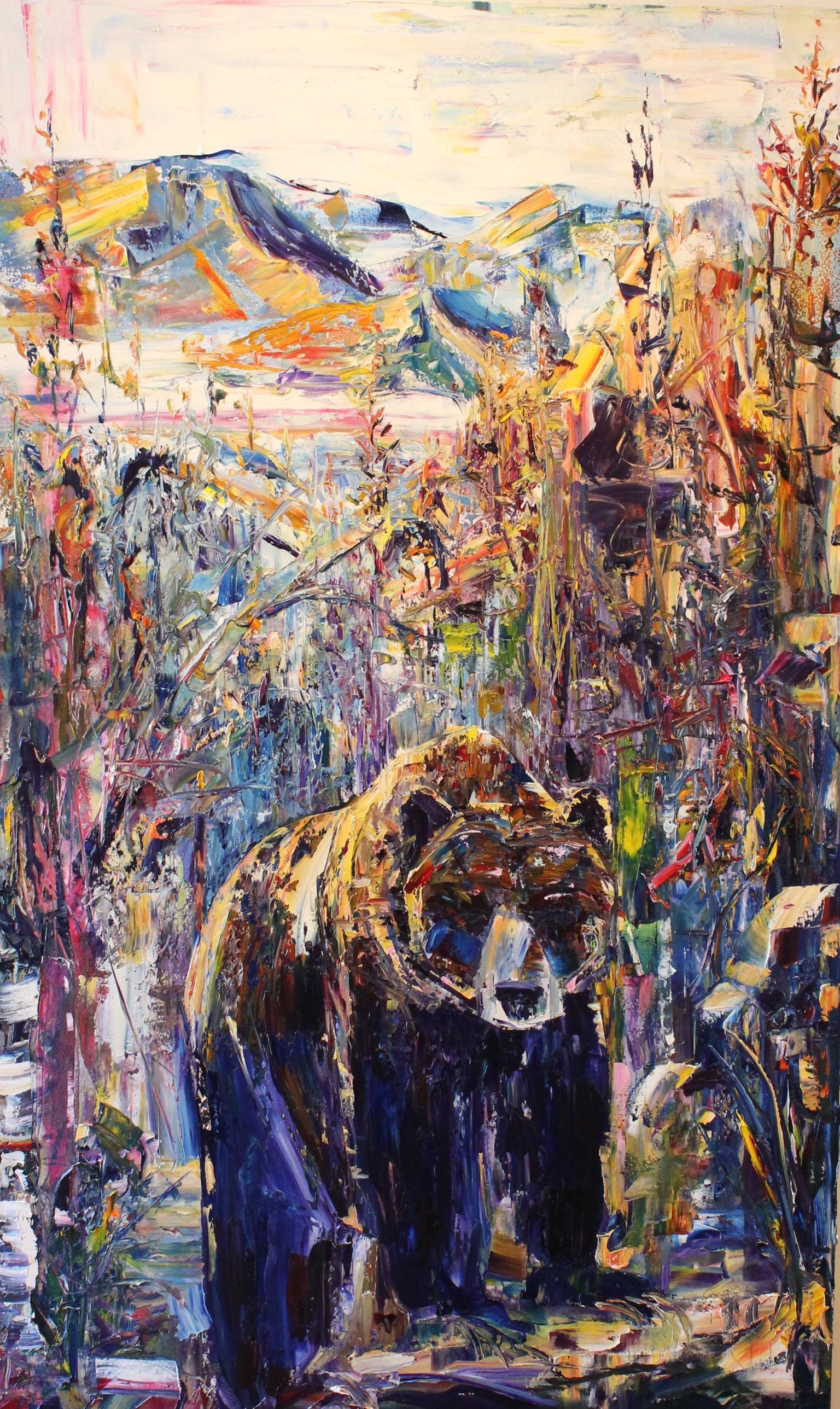 "Season Ascent - 36"" x 60""Oil on Canvas, Adam Meikle$2500"