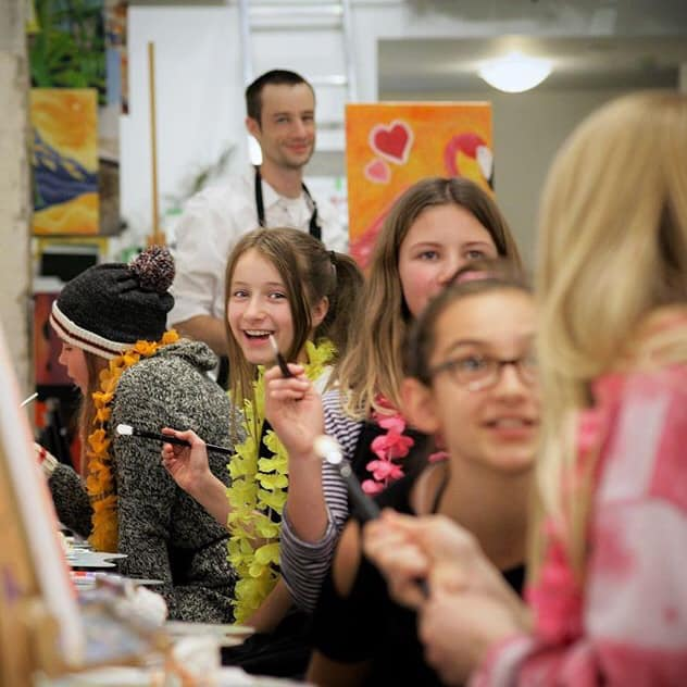 KIDS PAINTING PARTIES - Our studio is designed for fun and creativity! Kids will feel like one of The Masters on their special day! Kids paint parties are great for school field trips and fundraisers.