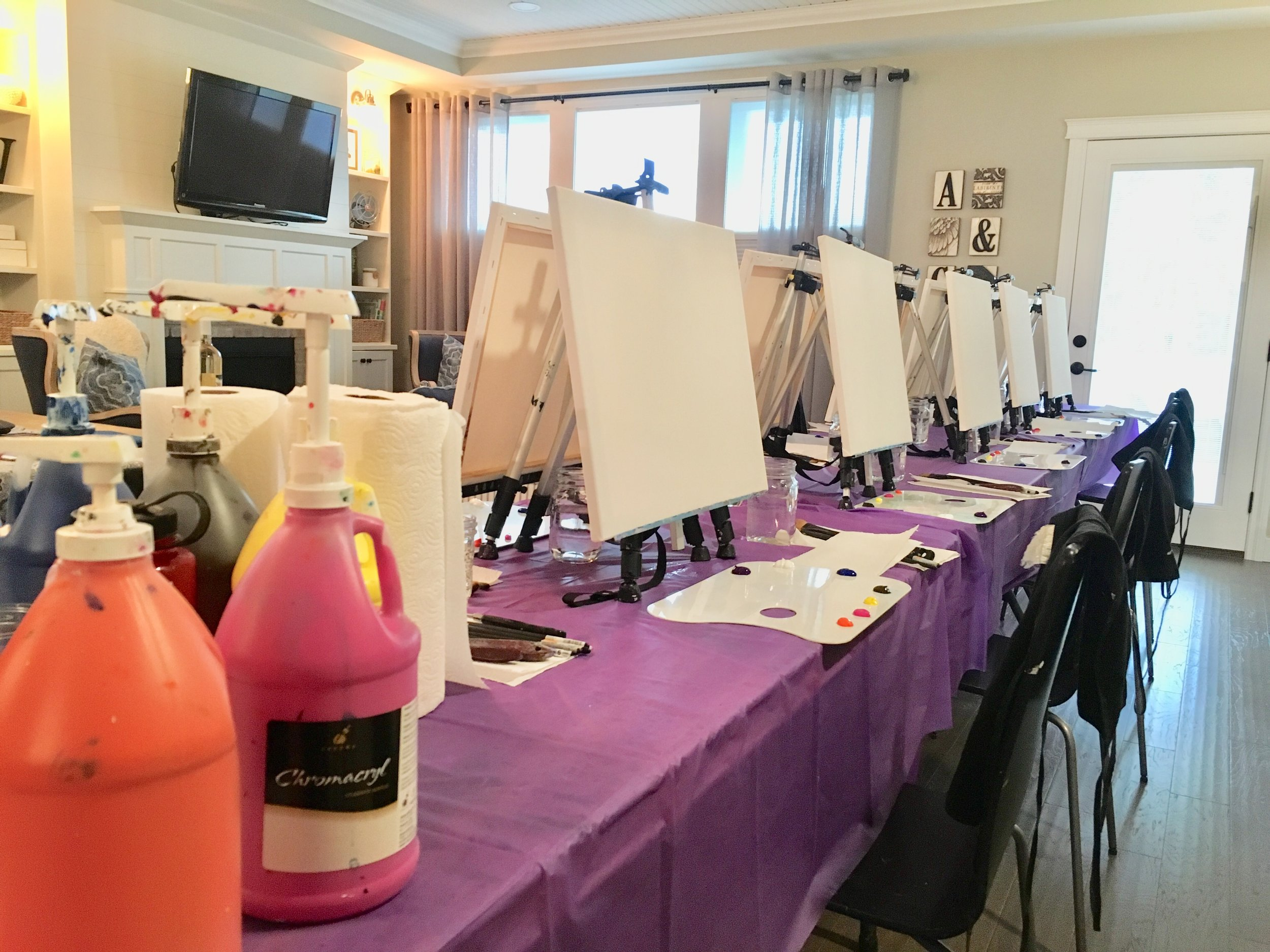 MOBILE PAINTING PARTIESIN THE SHUSWAP - We bring the painting party to you with our mobile option. Our mobile units are optimized to transport everything you need for a painting event to your location.