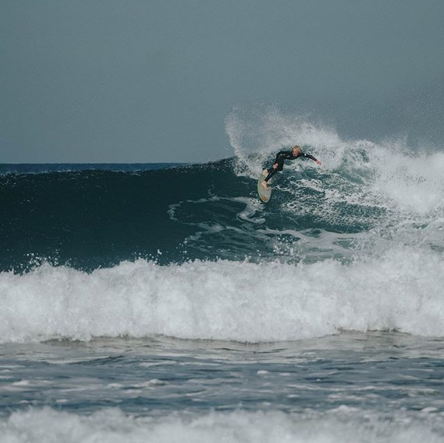 Our other overseas student, all the way from the Apple Isle, Noah loves it when the swell's up.