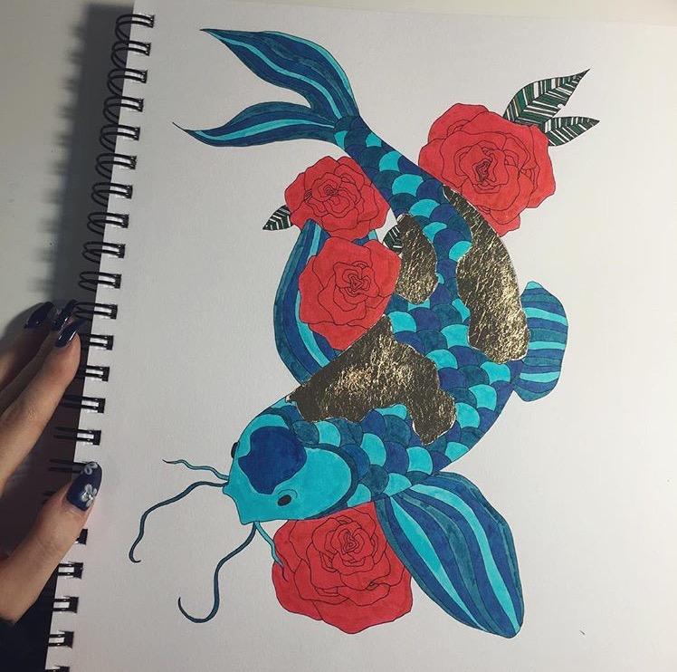 Koi + Roses