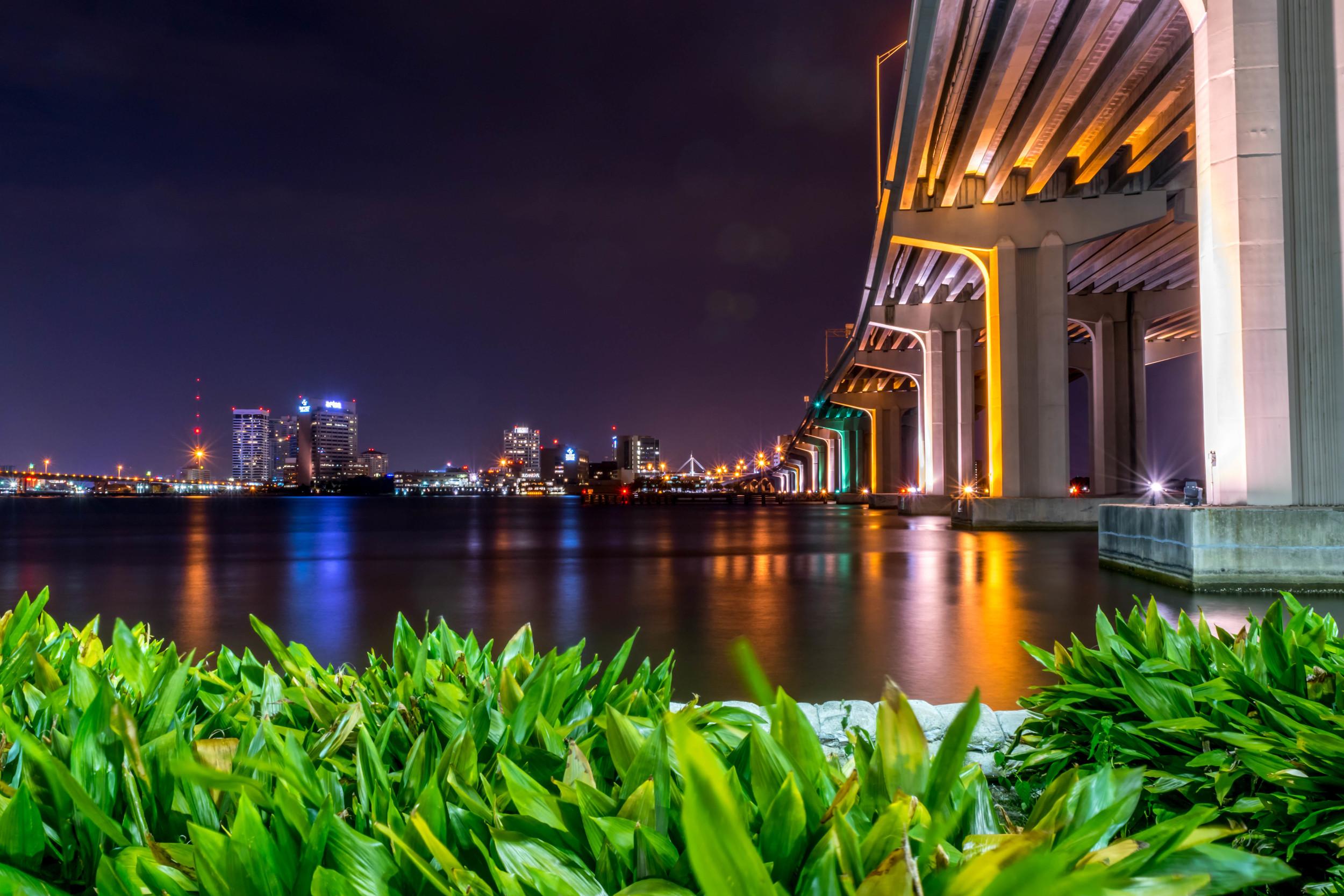 Fuller Warren Bridge at Night
