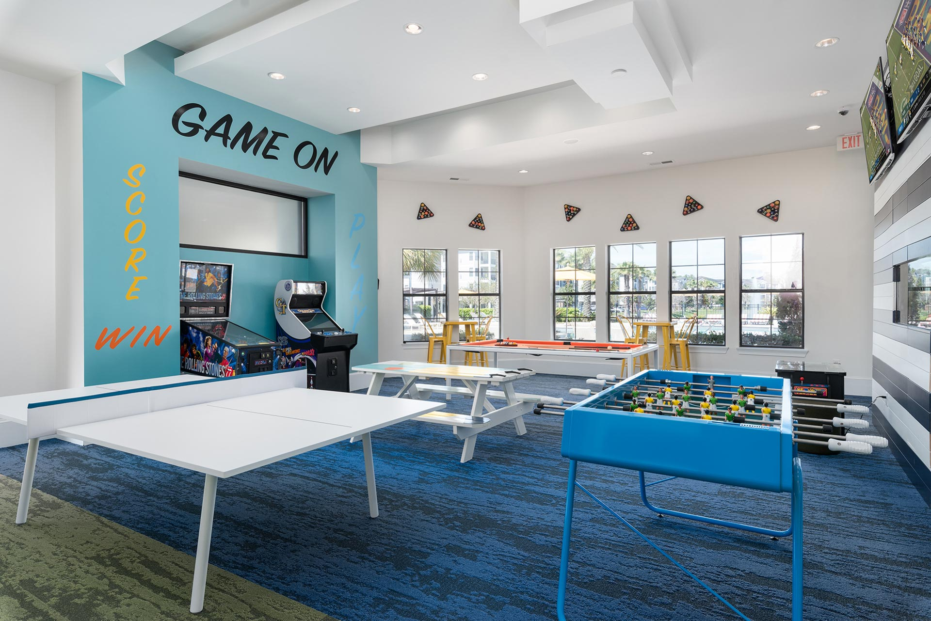Game Room in Apartment Complex