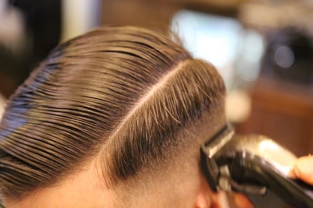 Give Em Fade, Get Em Laid 👯💈 #FossanoAndCoBarberShop #Fade #Graduation #WorkInProgress #Getlaid #Wahl #Clippers #ExecutiveContour #SidePart #MensHair #BarberLife #BarberGang #MakeTheCut #Scumbags