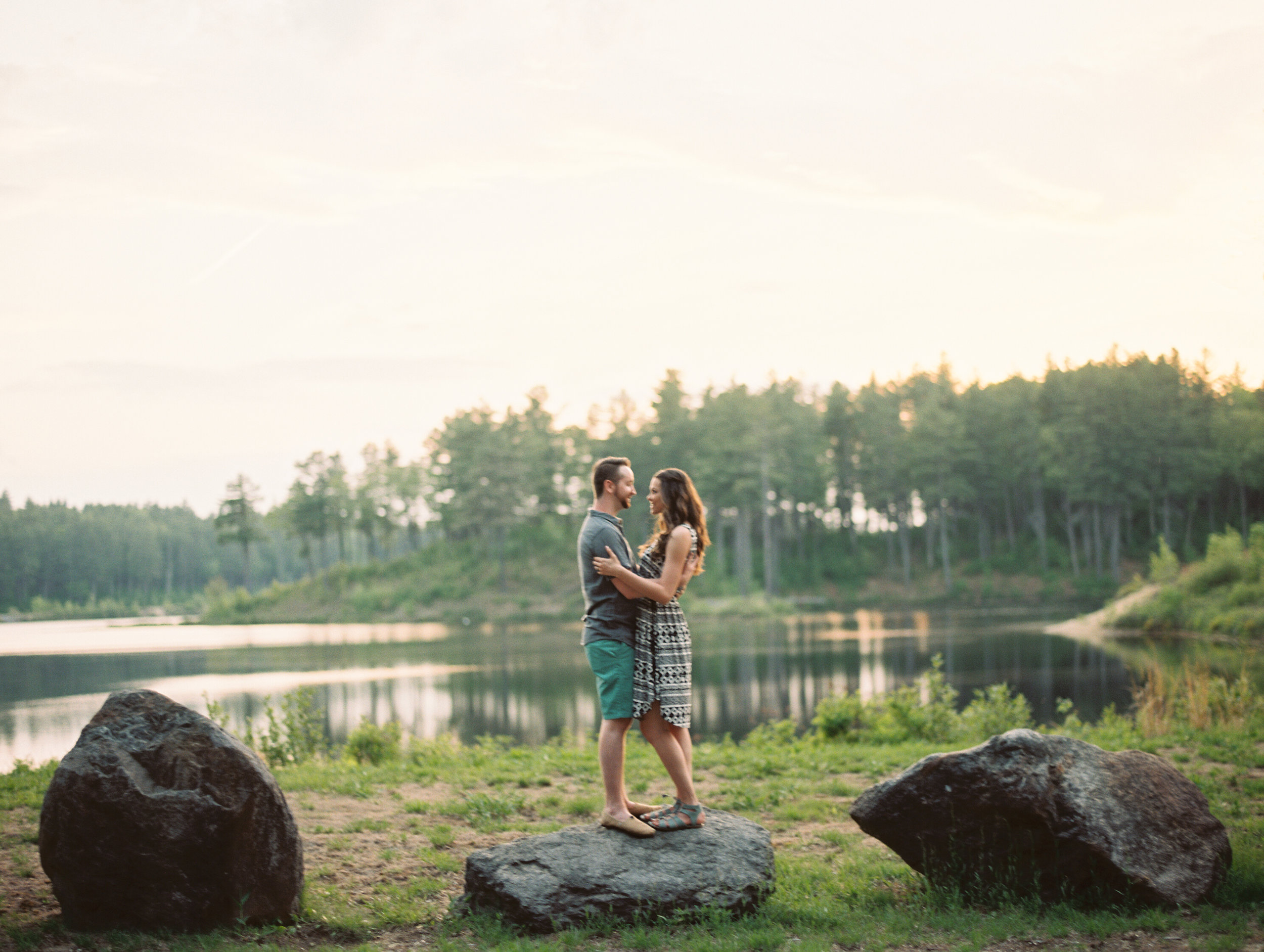 New Hampshire film photographer anniversary session clough state park concord_4.jpg