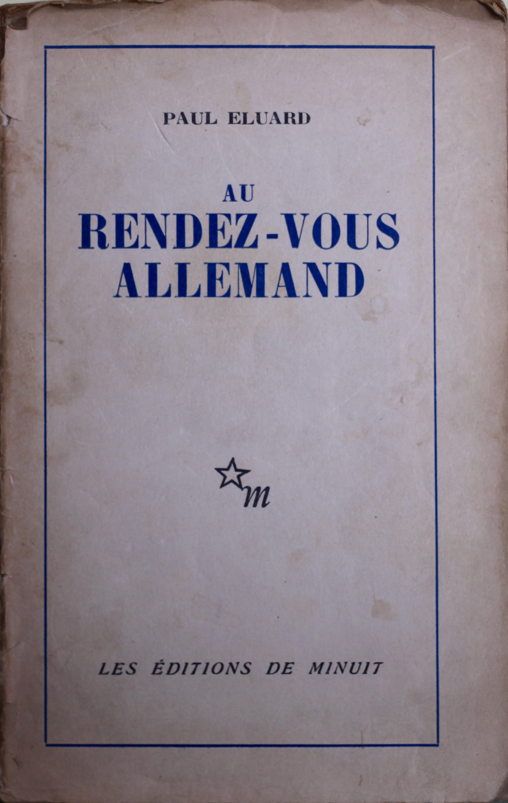 The copy of Éluard's poetry I bought in Pully