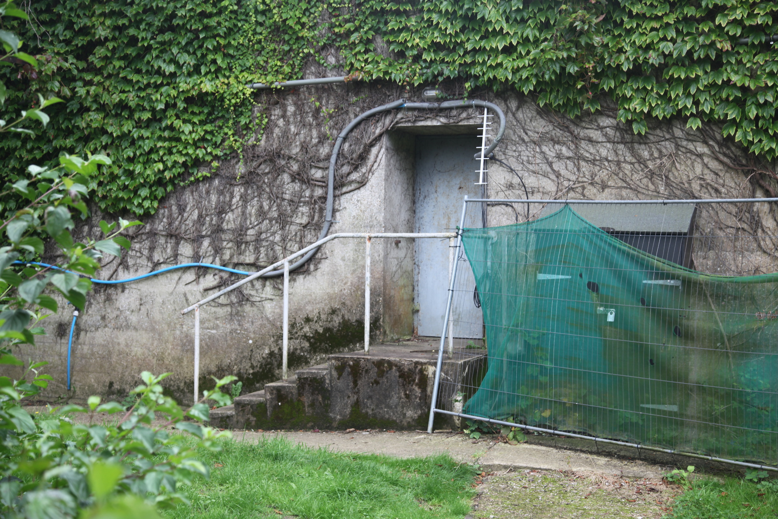 Entrance to the surviving nuclear bunker for key local officials; a reminder of how close we got.