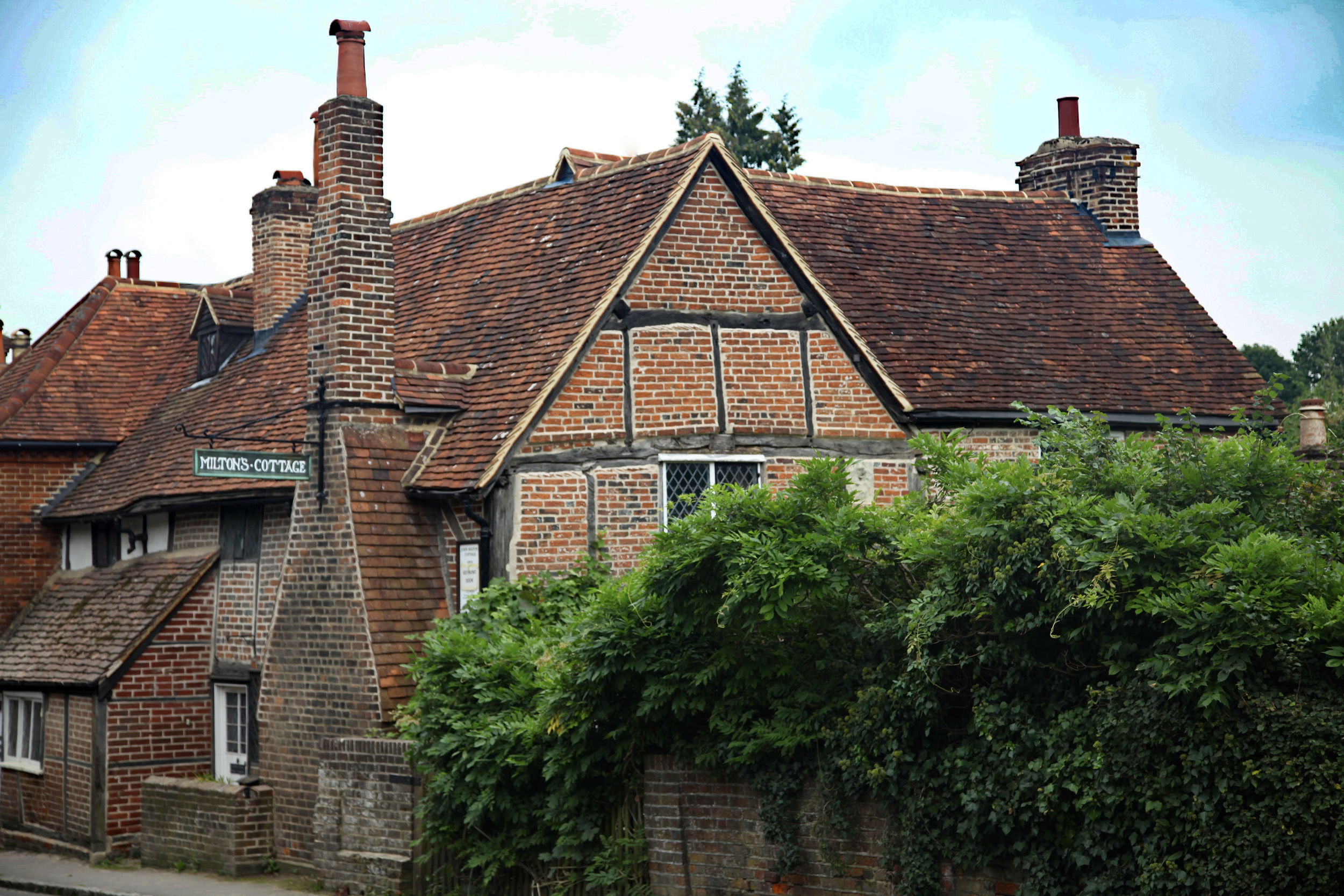 Milton's cottage, and now museum, at Chalfont St Giles, Buckinghamshire