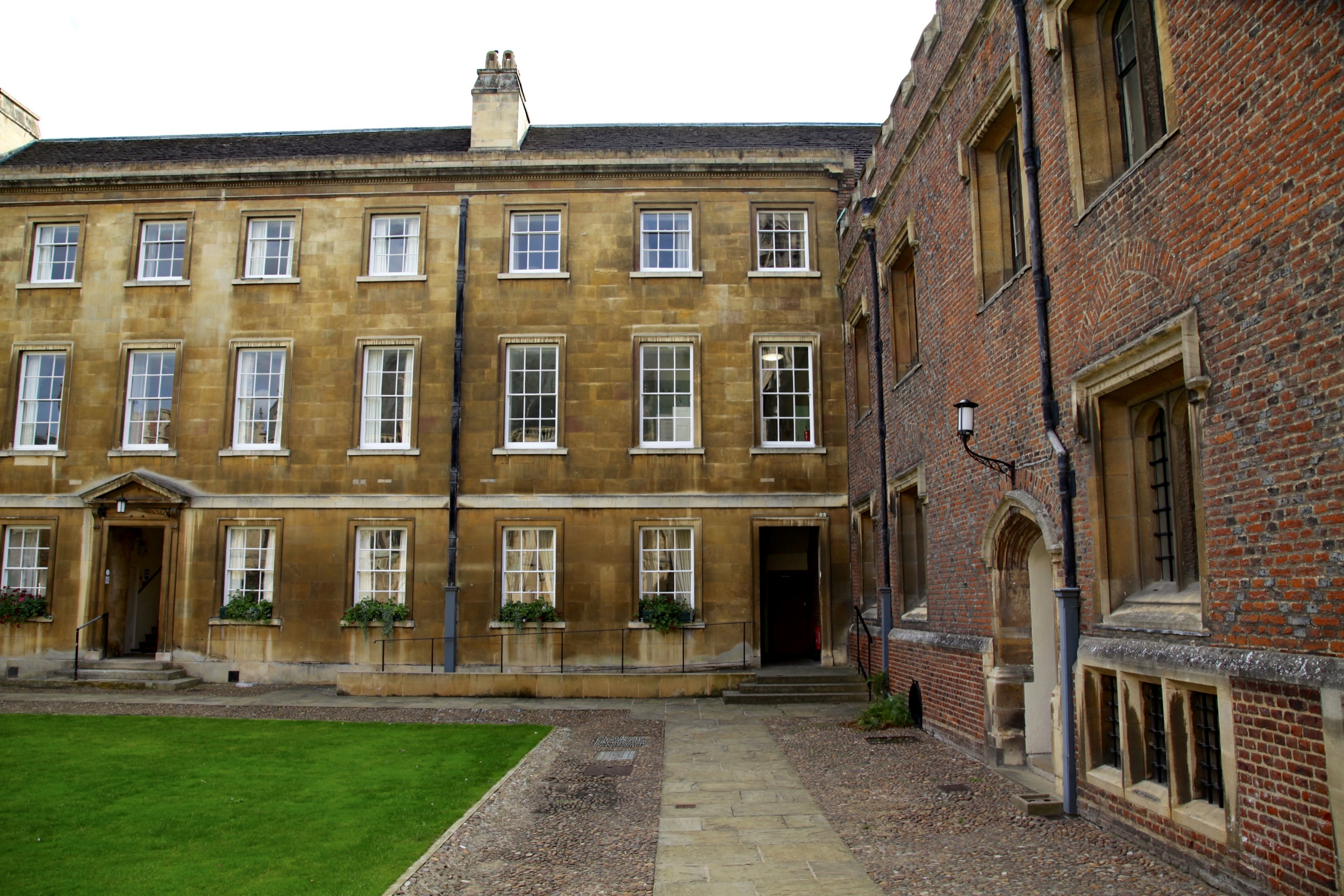 Wordsworth's rooms on the first floor of the first court of St John's College, Cambridge