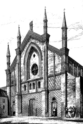 San Francesco, Pavia, from  Brick and Marble in the Middle Ages,  London: John Murray, 1874.