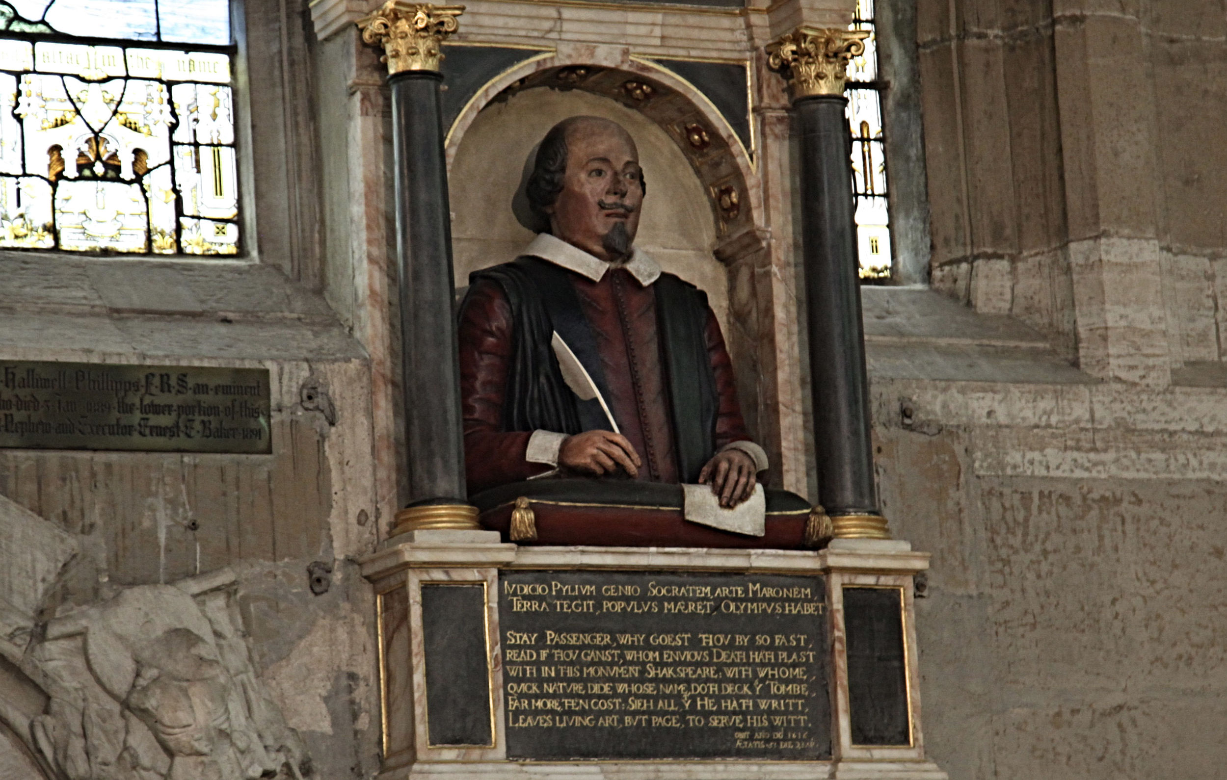 Monument in the chancel of Holy Trinity Church                                                                             ©Edward Burman