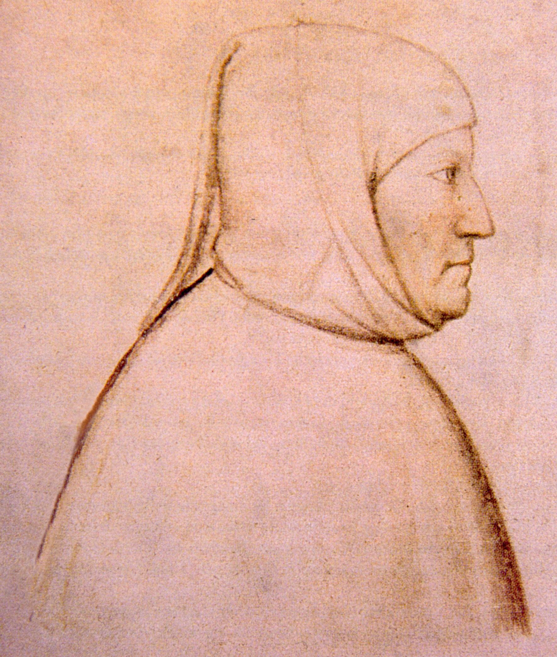 Portrait by Altichiero da Verona (1330-1395). Public Domain