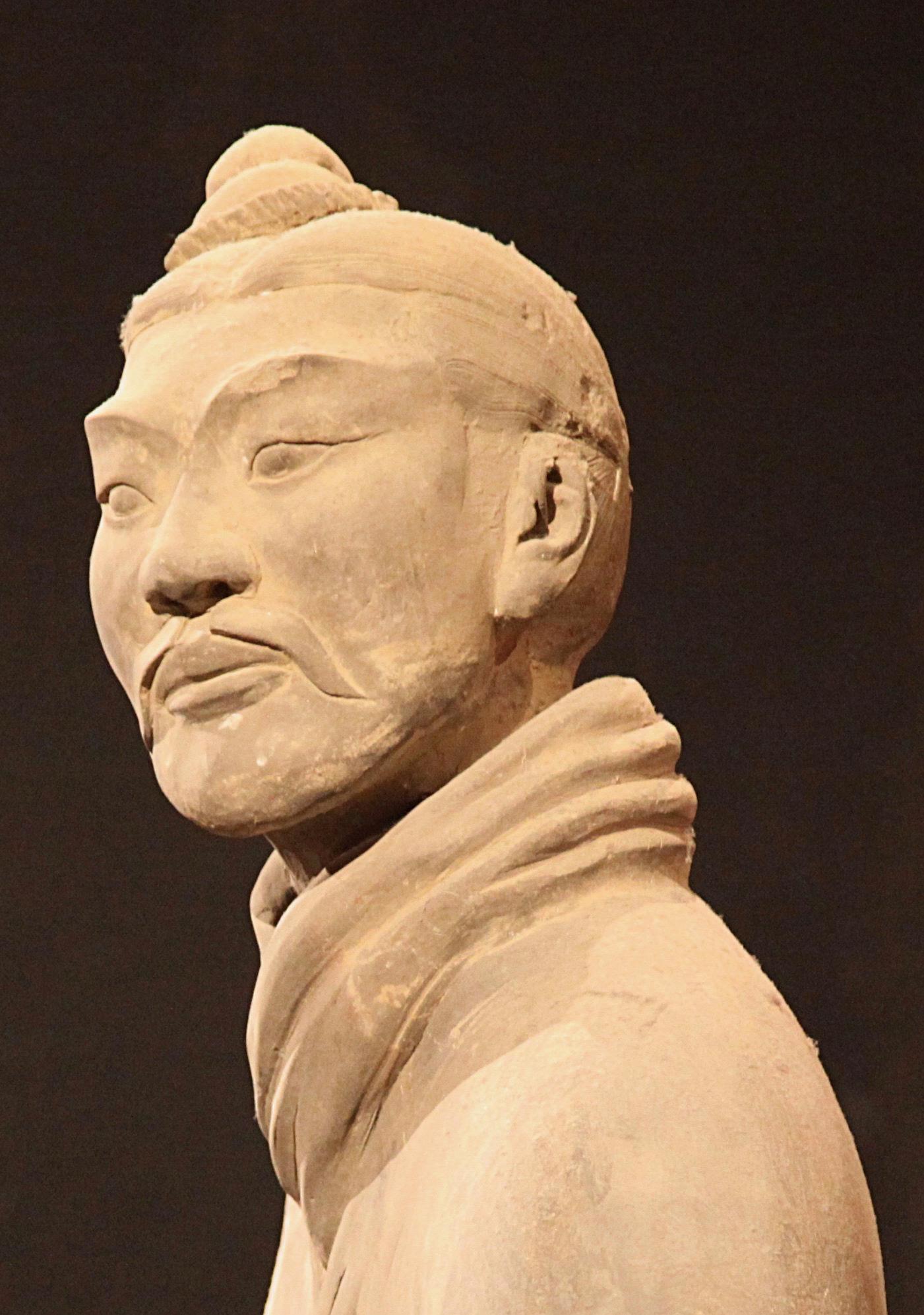 A Warrior in the Shaanxi History Museum. Photo ©Edward Burman