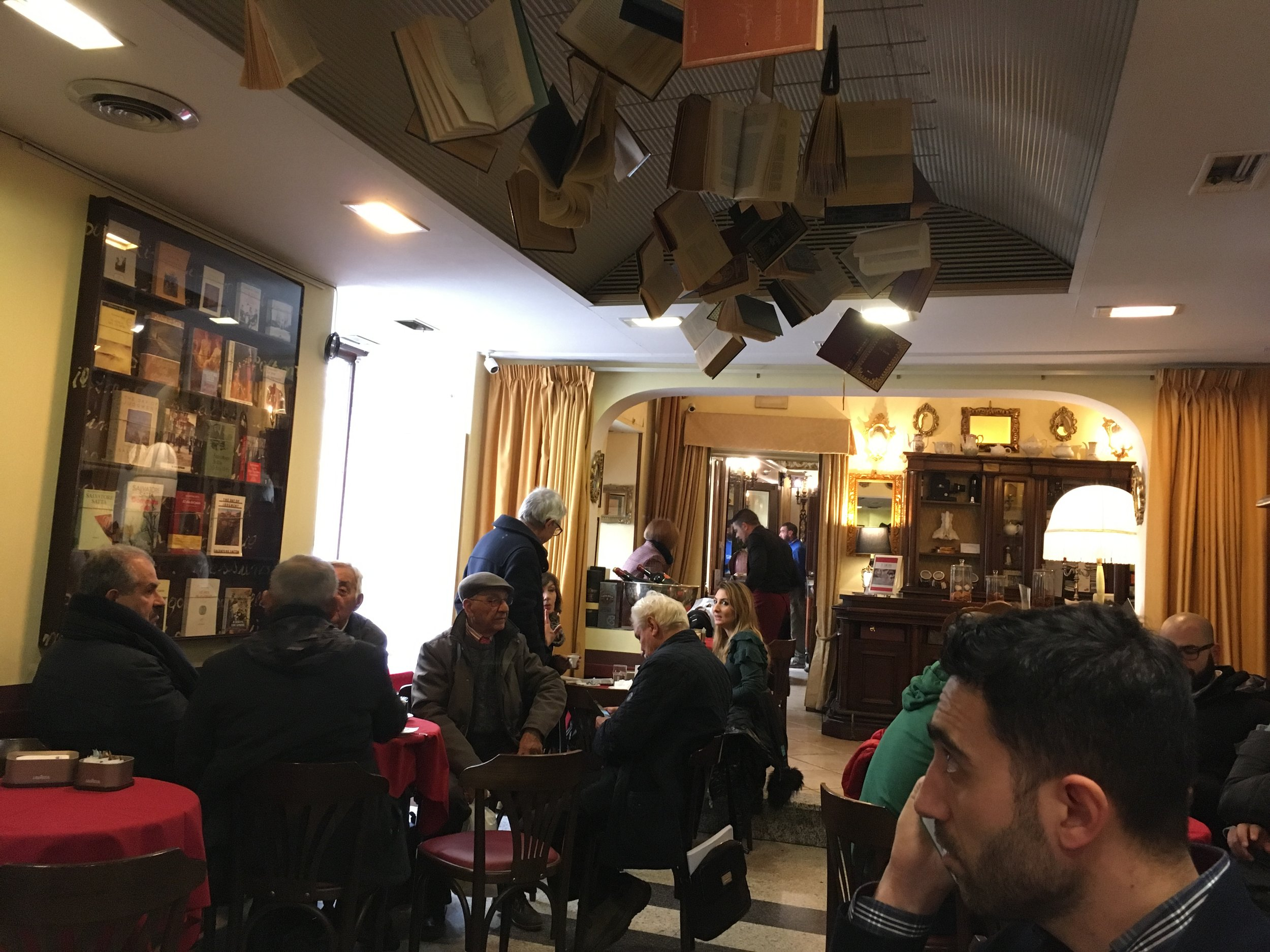 Caffé Tettamanzi today, still bookish