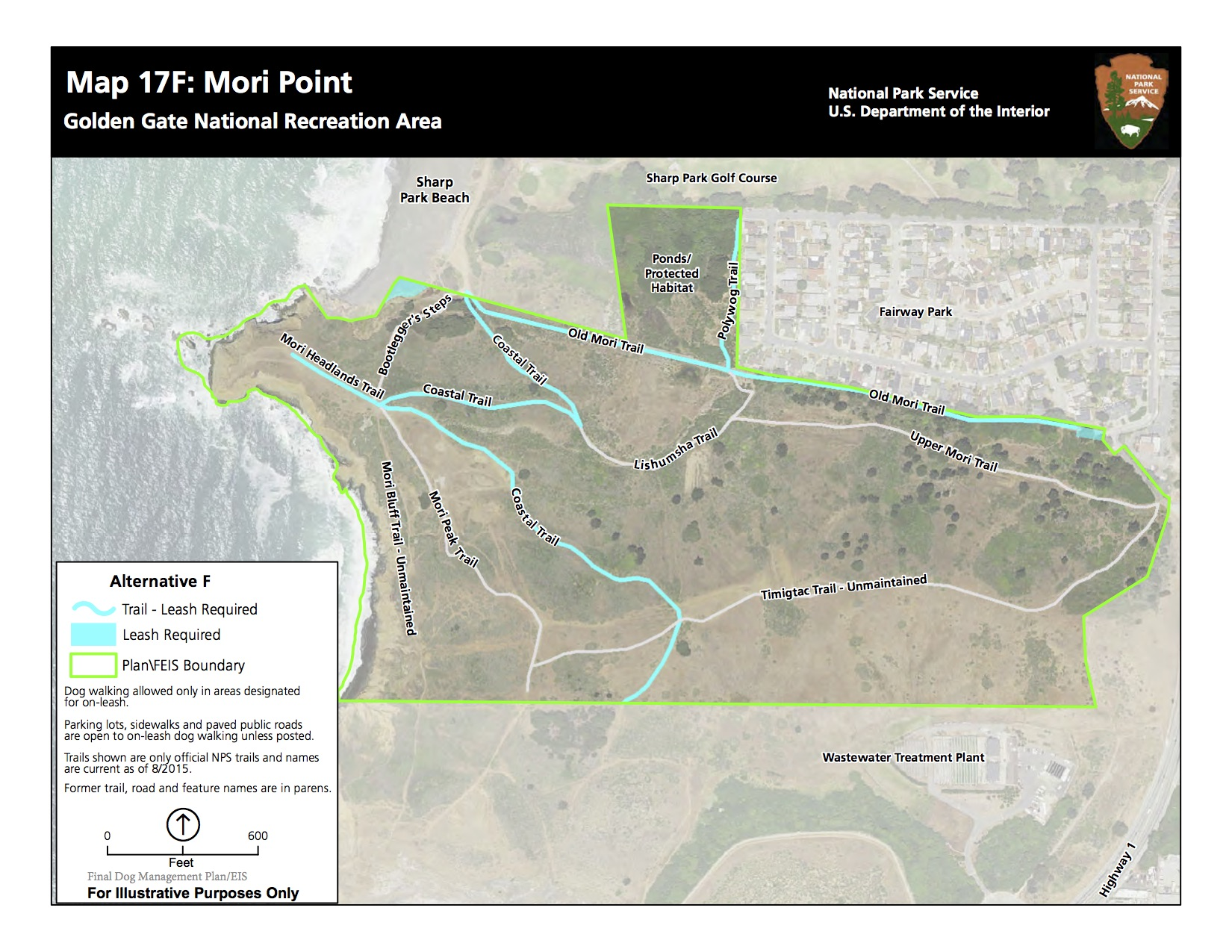 National park service - proposed CHANGES TO dog walking trails (dec. 2016 final EIS)