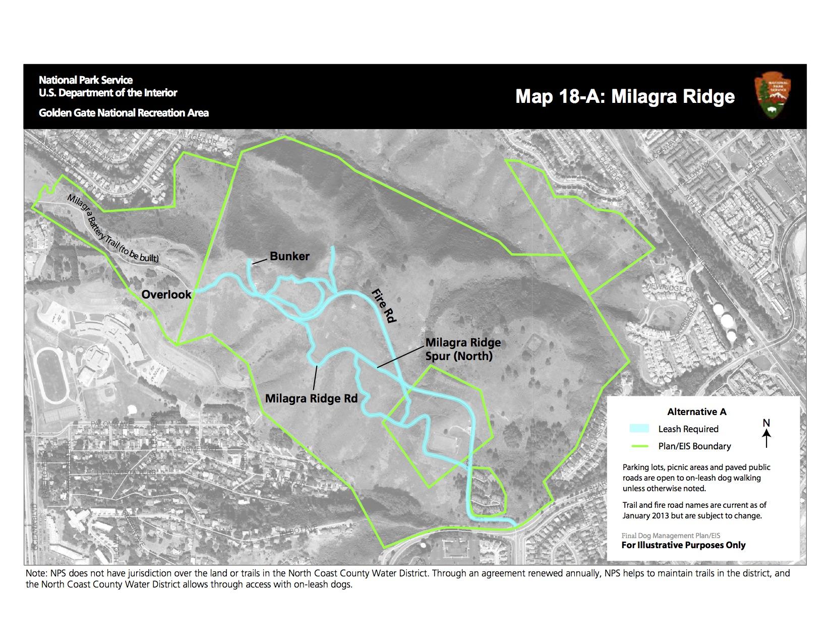 MILAGRA RIDGE - CURRENT DOG WALKING ACCESS