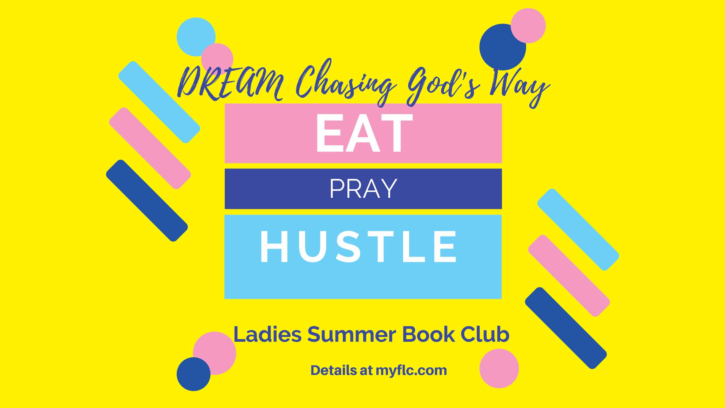 The Sisterhood Ladies Ministry is hosting an online Bible study of Havilah Cunnington's Eat, Pray, Love Study. This course is designed to last 20 days and is online. You will need access to an email account and Facebook.