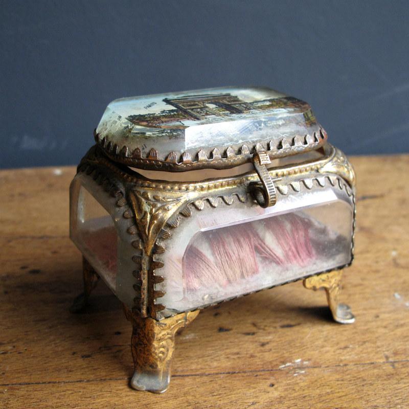 Antique Parisian jewellery casket