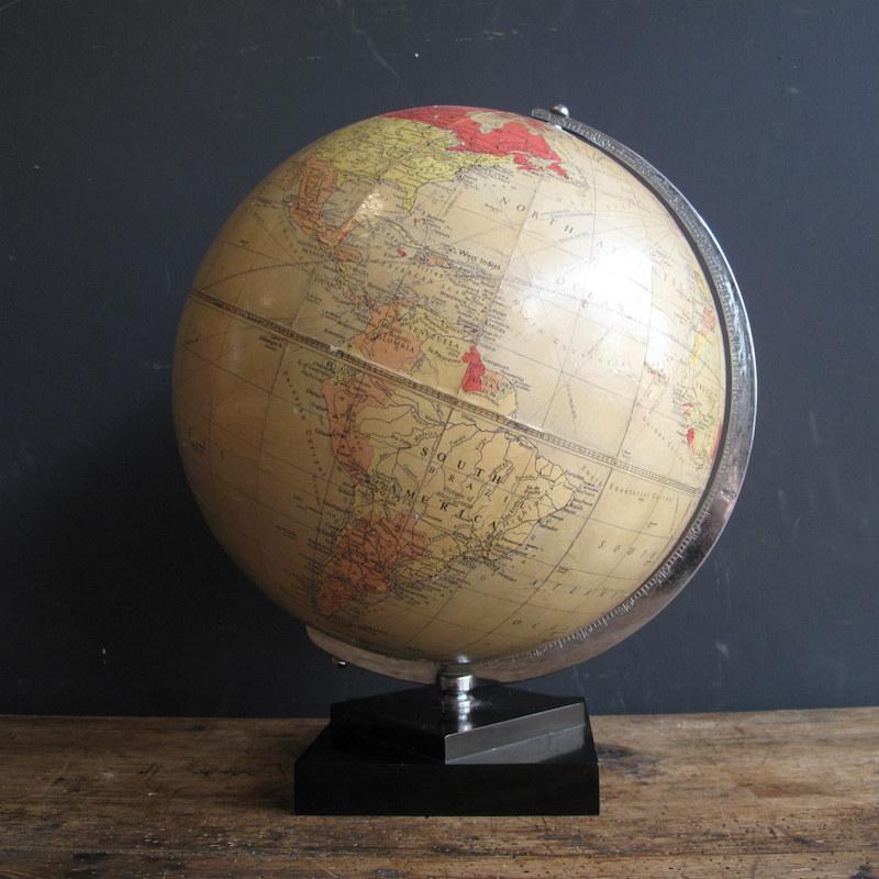 1957 Philips Terrestrial Globe