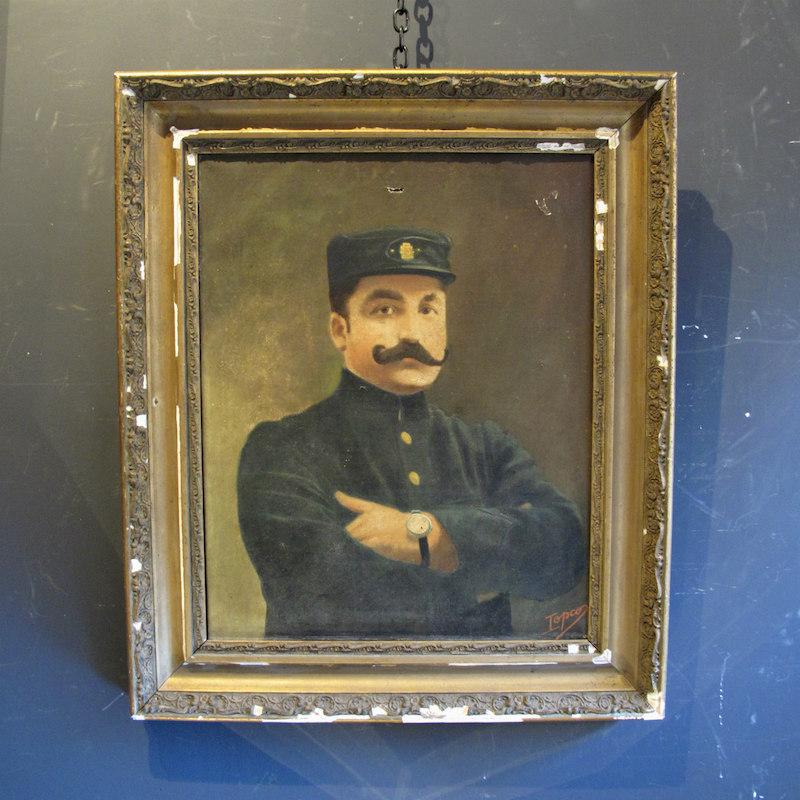 Oil Portrait of a Belgian Soldier