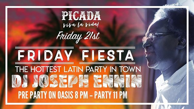 """Last weekend was CRA ZY!  Join us again tonight and get to live """"La vida loca"""" with us  Be prepared for a hot night of Salsa, Merengue, Bachata, Kizomba, Reggaeton & more —- FREE ENTRY —- FT DJ JOSEPH ENNIN Organiser of the only Salsa Festival in town, playing the hottest Salsa, Bachata, Kizomba, Merengue & more -----------OASIS TERRACE------------ DJ Joseph will delight us in the pre-party with some tropical tunes on our Oasis Terrace from 8:00 PM  Get delicious shisha from """"The Aces HK""""  Enjoy Happy Hour $38 standard drinks on the terrace from 5-10 PM to get your night kicking right before the party starts  Nos vemos!!!"""